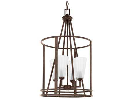 Capital Lighting Avalon Russet Four-Light 16'' Wide Pendant Light