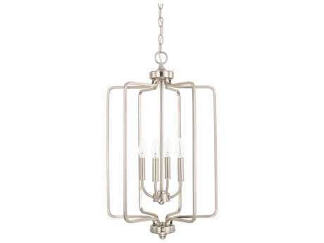 Capital Lighting HomePlace Lighting Braylon Brushed Nickel Four-Light 16'' Wide Chandelier