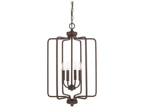 Capital Lighting HomePlace Lighting Braylon Bronze Four-Light 16'' Wide Chandelier