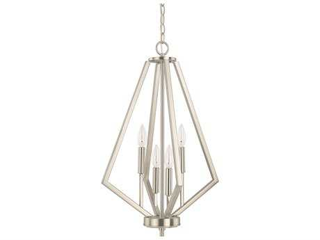 Capital Lighting HomePlace Lighting Baxley Brushed Nickel Four-Light 16'' Wide Chandelier