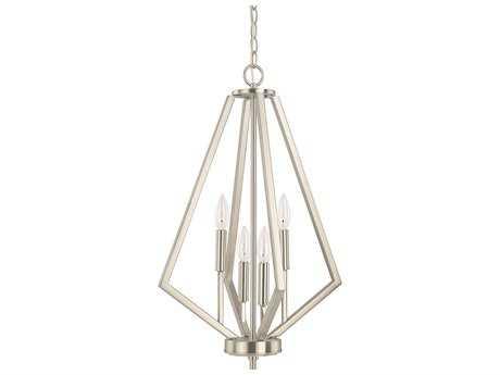 Capital Lighting HomePlace Lighting Baxley Brushed Nickel Four-Light 16'' Wide Chandelier