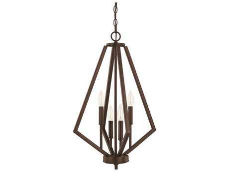 Capital Lighting HomePlace Lighting Baxley Bronze Four-Light 16'' Wide Chandelier