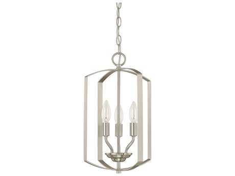 Capital Lighting HomePlace Lighting Brushed Nickel Three-Light 10'' Wide Mini Chandelier