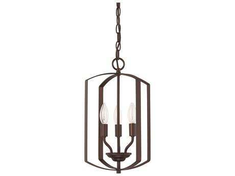 Capital Lighting HomePlace Lighting Bronze Three-Light 10'' Wide Mini Chandelier