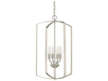 Capital Lighting HomePlace Lighting Brushed Nickel Four-Light 15'' Wide Chandelier