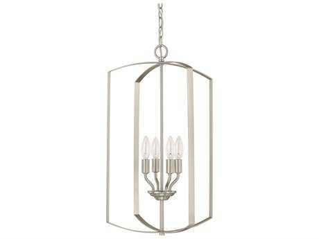 Capital Lighting HomePlace Lighting Brushed Nickel Four-Light 15'' Wide Chandelier