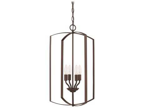 Capital Lighting HomePlace Lighting Bronze Four-Light 15'' Wide Chandelier