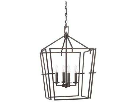Capital Lighting HomePlace Bronze Four-Light 19'' Wide Mini Chandelier