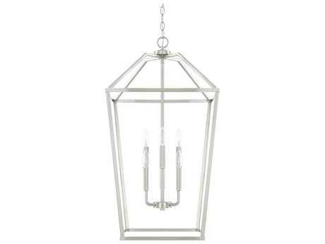 Capital Lighting HomePlace Brushed Nickel Six-Light 17'' Wide Chandelier