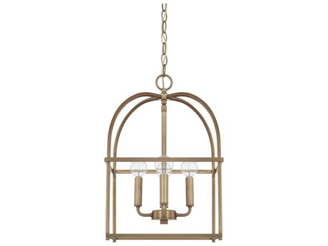 Capital Lighting Homeplace Aged Brass Four-Lights 13'' Wide Mini Chandelier