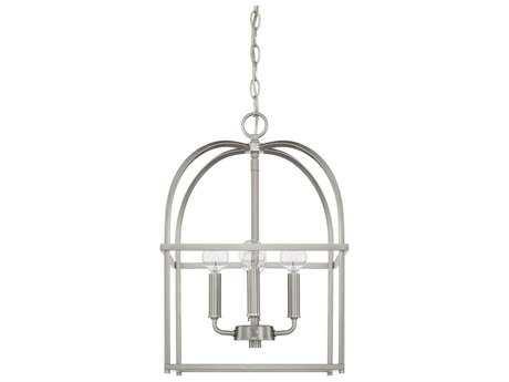 Capital Lighting Homeplace Brushed Nickel Four-Lights 13'' Wide Mini Chandelier
