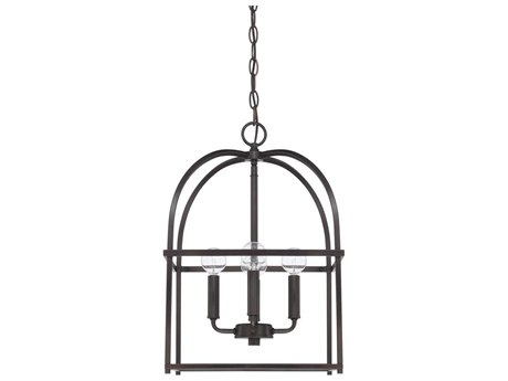 Capital Lighting Homeplace Matte Black Four-Lights 13'' Wide Mini Chandelier