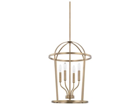Capital Lighting Homeplace Aged Brass Four-Lights 16'' Wide Mini Chandelier