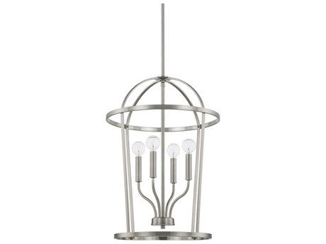 Capital Lighting Homeplace Brushed Nickel Four-Lights 16'' Wide Mini Chandelier