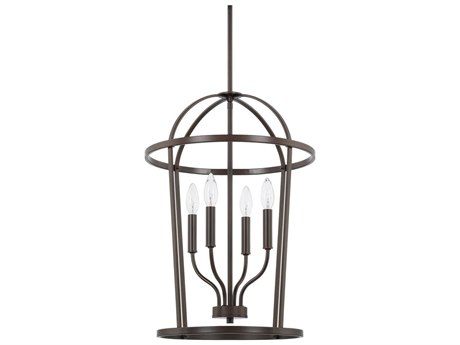 Capital Lighting Homeplace Bronze Four-Lights 16'' Wide Mini Chandelier