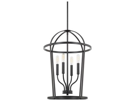 Capital Lighting Homeplace Matte Black Four-Lights 16'' Wide Mini Chandelier