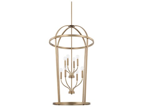 Capital Lighting Homeplace Aged Brass Eight-Lights 25'' Wide Chandelier