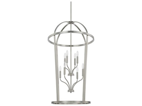 Capital Lighting Homeplace Brushed Nickel Eight-Lights 25'' Wide Chandelier