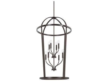 Capital Lighting Homeplace Bronze Eight-Lights 25'' Wide Chandelier
