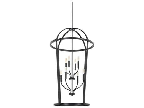 Capital Lighting Homeplace Matte Black Eight-Lights 25'' Wide Chandelier
