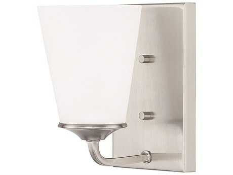Capital Lighting HomePlace Lighting Braylon Brushed Nickel with Soft White Glass Wall Sconce (Sold in 2)