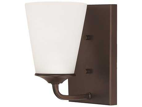 Capital Lighting HomePlace Lighting Braylon Bronze with Soft White Glass Wall Sconce (Sold in 2)