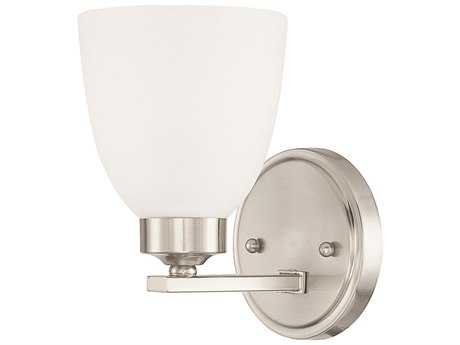 Capital Lighting HomePlace Lighting Jameson Brushed Nickel with Soft White Glass Wall Sconce