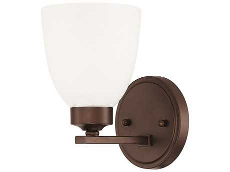 Capital Lighting HomePlace Lighting Jameson Bronze with Soft White Glass Wall Sconce