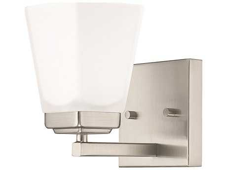 Capital Lighting HomePlace Lighting Baxley Brushed Nickel with Soft White Glass Wall Sconce