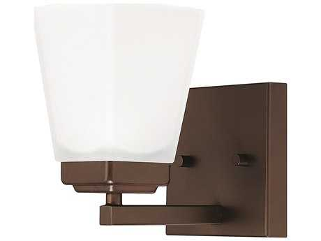 Capital Lighting HomePlace Lighting Baxley Bronze with Soft White Glass Wall Sconce