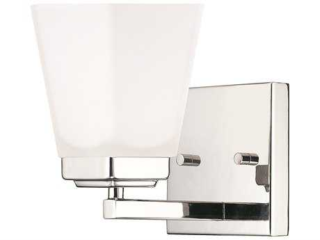 Capital Lighting HomePlace Lighting Baxley Polished Nickel with Soft White Glass Wall Sconce