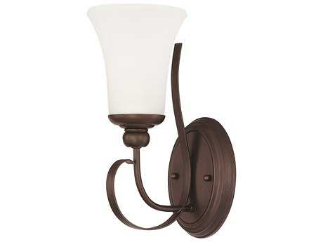 Capital Lighting HomePlace Lighting Griffin Bronze with Soft White Glass Wall Sconce