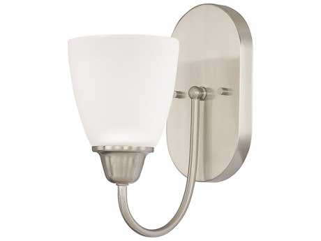 Capital Lighting HomePlace Lighting Trenton Brushed Nickel with Acid Washed Glass Wall Sconce