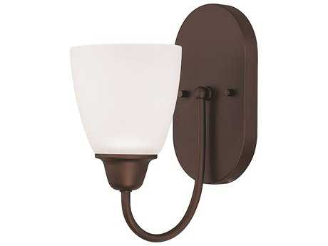 Capital Lighting HomePlace Lighting Trenton Bronze with Acid Washed Glass Wall Sconce
