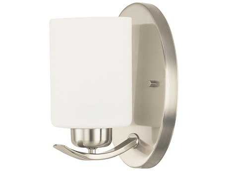 Capital Lighting HomePlace Lighting Dixon Brushed Nickel with Soft White Glass Wall Sconce (Sold in 2)
