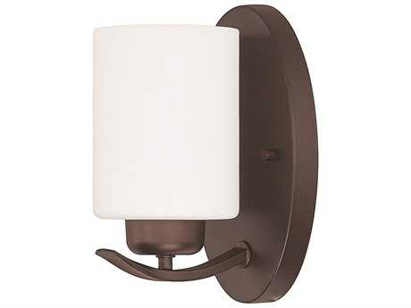 Capital Lighting HomePlace Lighting Dixon Bronze with Soft White Glass Wall Sconce (Sold in 2)
