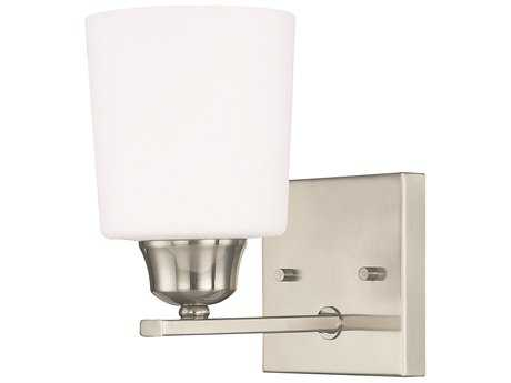 Capital Lighting HomePlace Lighting Hayden Brushed Nickel with Soft White Glass Wall Sconce