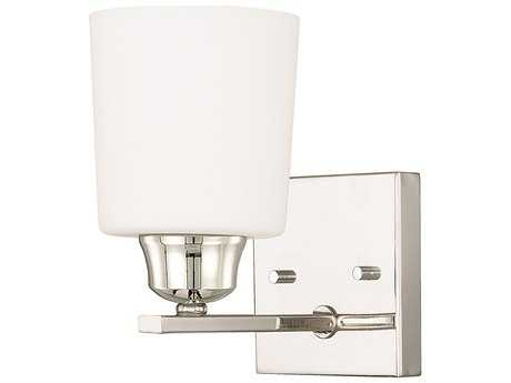 Capital Lighting HomePlace Lighting Hayden Polished Nickel with Soft White Glass Wall Sconce