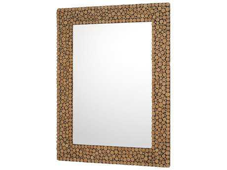 Capital Lighting Natural Wood 36''W x 48''H Rectangular Wall Mirror