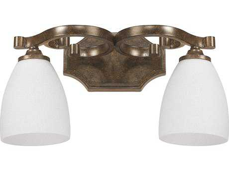 Capital Lighting Harrison Mottled Brown Two-Light Vanity Light