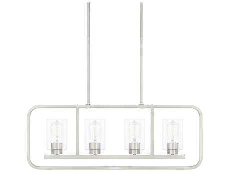 Capital Lighting Homeplace Brushed Nickel Four-Light 32'' Wide Island Light