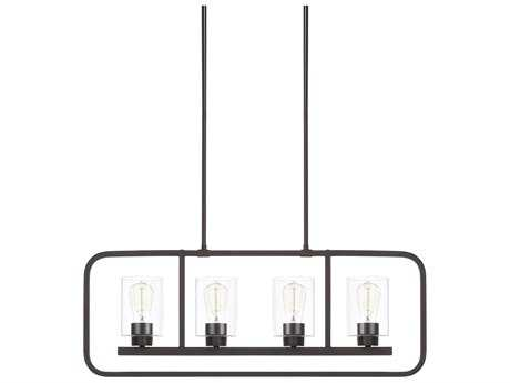 Capital Lighting Homeplace Bronze Four-Light 32'' Wide Island Light