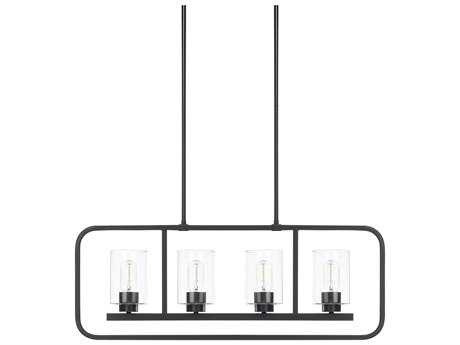 Capital Lighting HomePlace Matte Black Four-Light 32'' Wide Island Light