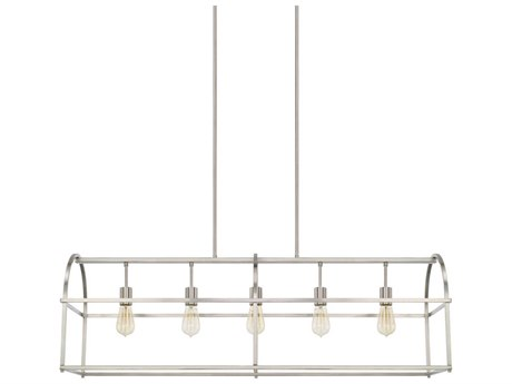 Capital Lighting Homeplace Brushed Nickel Five-Lights 46'' Wide Island Light