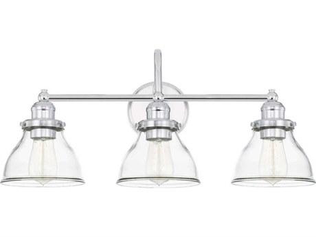 Capital Lighting Baxter Chrome Three-Lights 24'' Wide Vanity Light