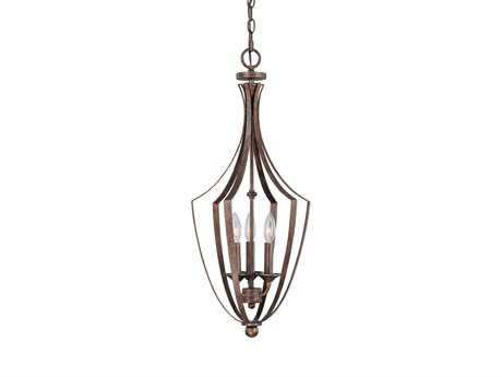 Capital Lighting Soho Rustic Three-Light Pendant Light