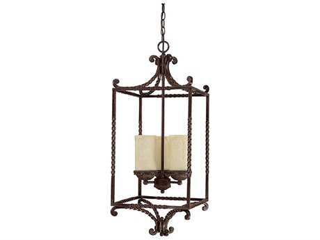 Capital Lighting Highlands Weather Brown Three-Light 19'' Wide Pendant Light