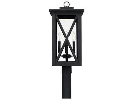 Capital Lighting Avondale Black Four-Lights 11'' Wide Outdoor Post Lantern