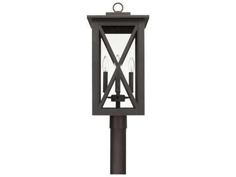Capital Lighting Avondale Oiled Bronze Four-Lights 11'' Wide Outdoor Post Lantern