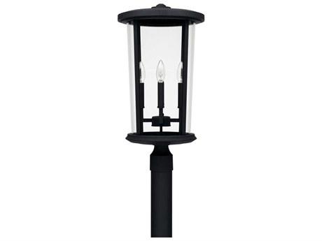 Capital Lighting Howell Black Four-Lights 12'' Wide Outdoor Post Lantern